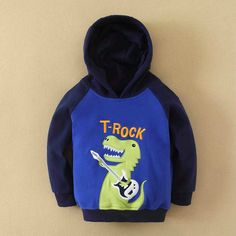 Boy Hooded Sweater- Dinosaur design