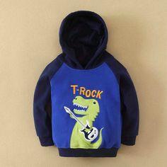 Boy Hooded Sweater- Dinosaur design