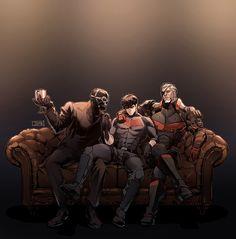 Black Mask, Red Hood (Jason Todd) And Deathstroke (Slade Wilson. Red Hood Dc, Batman Red Hood, Dc Comics Art, Marvel Dc Comics, Batwoman, Nightwing, Redhood And The Outlaws, Red Hood Jason Todd, Arkham Knight