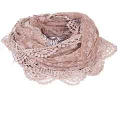 Miso Lace Embroidered Scarf ($7.75) ❤ liked on Polyvore