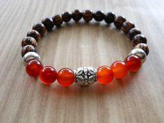 Carnelian Mala Bracelet Healing & by HickorySpringsDesign on Etsy