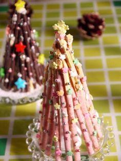 デコポッキーのクリスマスツリー☆ もっと見る