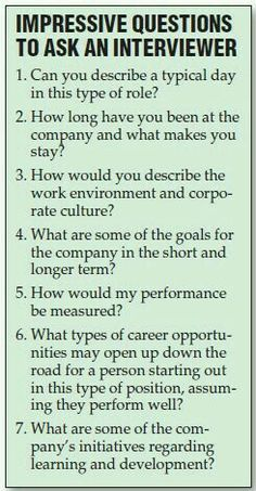 More questions to ask at an interview