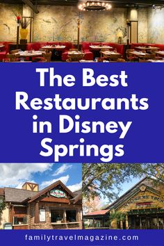 Disney Springs especially offers so many dining choices, from table service restaurants to food trucks, including some of the best Disney restaurants. Here are the best Disney Springs restaurants for your next trip. Disney World Food, Walt Disney World Vacations, Disney Reservations, Chef Guy Fieri, Best Disney Restaurants, Different House Styles, Rainforest Cafe, Disney Dining Plan, Disney Springs