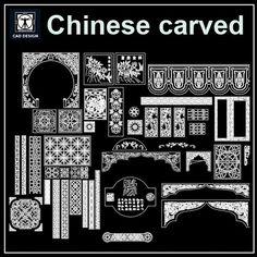 european classical elements blocks decorative elements carried of