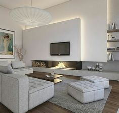 70 Gorgeous Contemporary Living Room Decor Ideas And Remodel Minimalist Living Room Contemporary Decor Gorgeous Ideas Living Remodel Room Living Room Tv, Living Room With Fireplace, Living Room Modern, Living Room Interior, Living Area, Contemporary Living Room Decor Ideas, Small Living, Cozy Living, Fireplace Windows