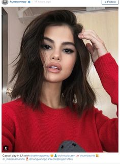 You may be excited that Selena Gomez kissed The Weeknd, or that she was spotted in a lace thong—her body is incredible BTW—but honestly we can't get over Selena Gomez's new hair. Now of course Selena changes her hair practically as often as we change our underwear, and it could be another celebrity