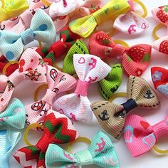 Random Mix Lots Pet Dog Hair Bows With Rubber Band Pearl Rhinestone Pet Dog Grooming Flower -- Visit the image link more details. (This is an affiliate link) Hair Bow Supplies, Dog Supplies, Super Cute Dogs, Bows For Sale, Dog Hair Bows, Dog Shower, Dog Diapers, Boutique Hair Bows, Making Hair Bows