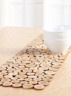 Idee fai da te in legno - Legno per decorare la tavola