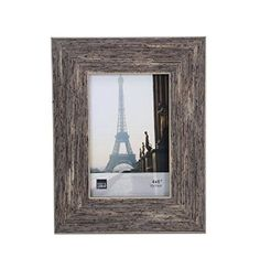 Amazon.com - Kiera Grace Emery Picture Frame, Holds 4 by 6-Inch Photo, Weathered Grey Reclaimed Wood Look Finish -