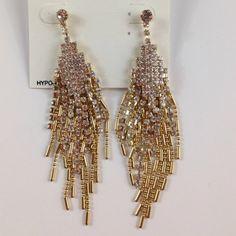 Alfani GoldTone Crystal Chain Drop Earrings