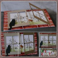 You have to be a Stampin' Up demonstrator to view this... But, I love the double window idea