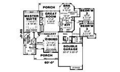 Country Style House Plan - 3 Beds 2 Baths 2080 Sq/Ft Plan #34-110 Floor Plan - Main Floor Plan - Houseplans.com