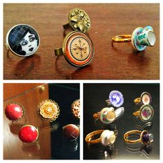 vintage rings • buttons and miniature porcelain • by www.annundfuermich.de im Café Fridolin in Köln ♥ #jewellery #jewelry #cafefridolin #cologne #ehrenfeld