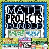 Math Projects Bundle - Place Value, Geometry, Measurement,