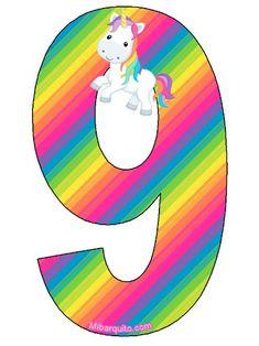 Alphabet Style, Unicorn Printables, Birthday Letters, Pony Party, Class Decoration, Mlp My Little Pony, Magical Unicorn, Unicorn Party, Letters And Numbers