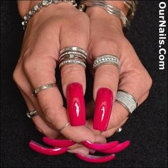 """My nails polished in """"Mrs."""" I Love this color! Thank you for all the love and support for my nails over the years! Sexy Nails, Dope Nails, Fun Nails, Nail Polish Hacks, Long Nail Designs, Long Acrylic Nails, Dream Nails, Perfect Nails, White Nails"""