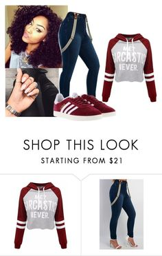 """Untitled #981"" by miss-eli-pink ❤ liked on Polyvore featuring adidas"