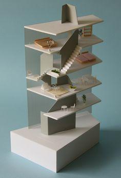 Maqueta para el proyecto 'vida en espiral' •  'life in spiral' model, by hideaki takayanagi, tokyo