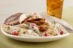 Creamy Tomato Basil Pasta with Chicken (philly cream cheese recipe)