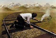 Painted Photographs of a Man's Mid-Life Crisis by Teun Hocks