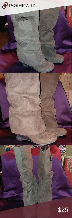 UnionBay Wedge Boots Great condition. Hardly worn UNIONBAY Shoes Heeled Boots