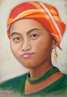 Bali Girl, Pastel Bali Girls, Framed Prints, Canvas Prints, London City, Painting & Drawing, Pastel, Tapestry, Drawings, Artwork