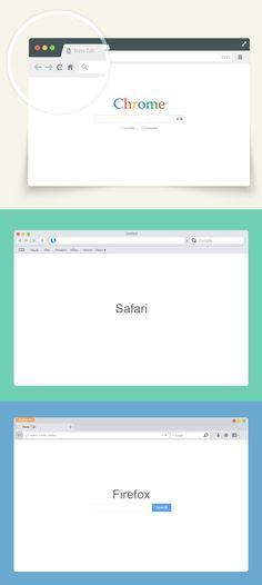 Vector Browser Mockup Set #freepsdfiles #freepsdmockups #mockuptemplates