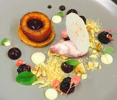 Caramelised apple, cinnamon puff pastry, blackberry ripple ice cream #foodie #dessert #restaurant