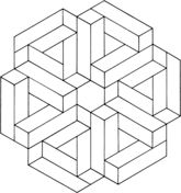 Optical Illusion 12 Coloring page