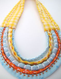 Fabric necklace - Would be cute on a simple tee or tanktop
