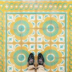Photographer Sebastian Erras has managed to capture and aggregate intricate amalgams of tile and mosaic floors throughout Europe and Cuba. Painting Tile Floors, Painted Floors, Tile Art, Mosaic Tiles, Mosaic Patterns, Print Patterns, Stenciled Floor, Floor Stencil, Bathroom Tile Designs