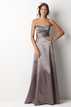 Watters & Watters 8225 - Smooth soft satin strapless bridesmaid gown with draped sweetheart bodice & floor length skirt. Visit www.missrubyboutique.com for more info!