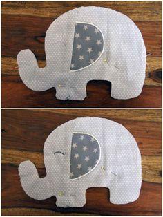 kostenloses schnittmuster f r elefantenkissen ellifant n hen pinterest n hen. Black Bedroom Furniture Sets. Home Design Ideas