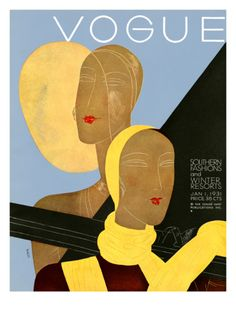 Vogue Cover - January 1931 Giclee Print by Eduardo Garcia Benito at Art.co.uk