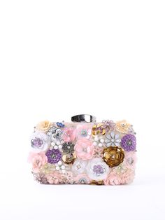 Shop Clutches - Pink Evening Clutch online. Discover unique designers fashion at StyleWe.com.