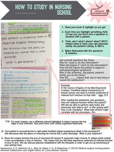 How to study in nursing school. Nursing school study tip