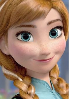 """Oh my word, I want to see Disney's """"Frozen""""!!!!!!!! This girl is just too perfect. Down to the little baby hairs across her forehead and her freckles... To be honest, she kinda reminds me of me, just more red-head-ish."""
