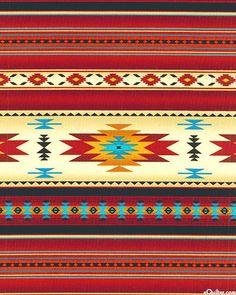 """Tucson - Native Classics Stripe - Red - 42"""" FLANNEL"""