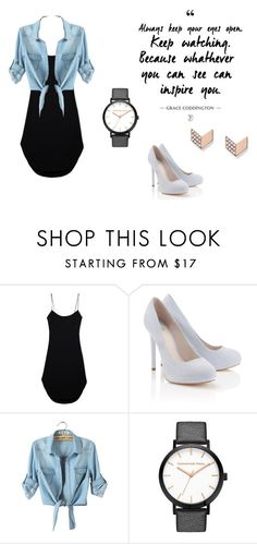 """""""H@ppy"""" by jasmine353 ❤ liked on Polyvore featuring Maiyet, Lipsy and FOSSIL"""
