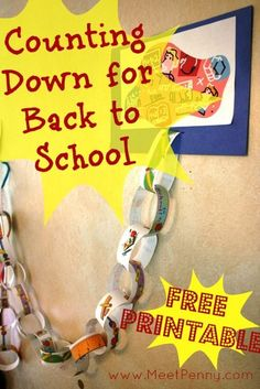 .: Back to School Countdown #Pinterest