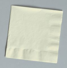Posh Party Supplies - Ivory Paper Lunch Napkins - 50 Napkins, $1.99 (http://www.poshpartysupplies.com/posh-products/posh-designer-napkins/solid-color-paper-napkins/ivory-paper-lunch-napkins-50-napkins/)