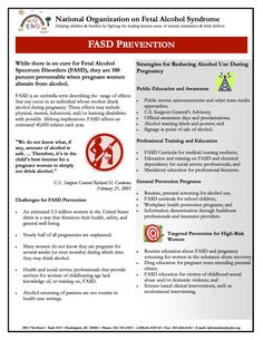 FASD Prevention - February 16, 2006 Strategies for reducing alcohol use during pregnancy and challenges for FASD prevention.