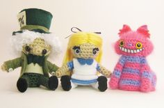 Mad Hatter, Alice and the Cheshire Cat