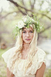 Bridal bohemian floral crown
