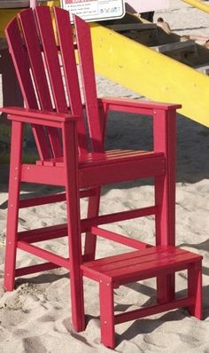 Adirondack lifeguard chair with footrest