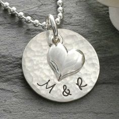 Great personalized necklace with sterling silver heart charm perfect for girlfriend, wife, anniversary gift, or wedding keepsake! Only at Whole Soul Jewelry. http://www.wholesouljewelry.com/products.php?product=Personalized-Necklace-with-Heart-Charm-%7BERICA%7D $52.00