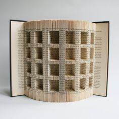Book Folding Pattern cuts Advent Calendar: by LoveBookFolding