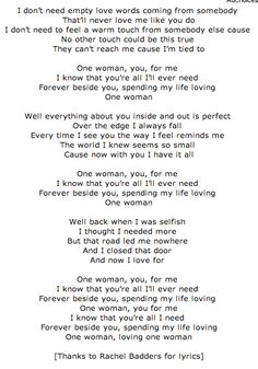One Woman by Randy Rogers Band. One of my absolute favorite songs!!