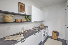 Porin asuntomessut 2018, Designtalo Noste. #designtalo #asuntomessut Decor, Furniture, Kitchen Cabinets, Cabinet, Table, Home Decor, Kitchen